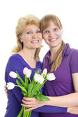 Adult daughter and mother — Stock Photo