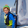 Stockfoto: Young yachtsman
