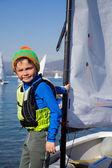 Young yachtsman — Stock Photo