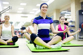 Young women doing yoga — Stock Photo