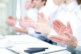 Applause on  conference — Stock Photo
