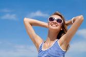 женщина в лето — Стоковое фото