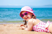 Little girl on a beach — Stock Photo