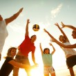 Volleyball on the beach — Stock Photo #44840699