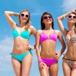 Pretty girls on the beach — Stock Photo #46347953