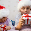Children with gifts — Stock Photo #46932659