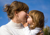 Happy mother with little girl — Foto Stock
