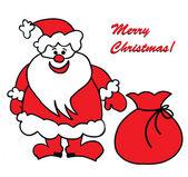 Fun Santa Claus — Stock Photo