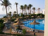Resort on seacoast — Stock Photo
