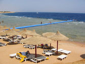 Beach on the shore of Red sea — Stock Photo