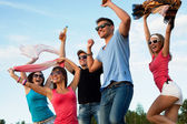 Open air party — Stock Photo