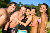 People in summer time — Stock Photo