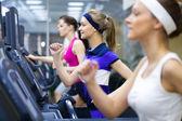 Running in gym — Stock Photo