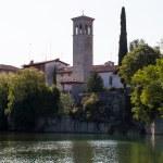 Bell tower of Cathedral of Santa Maria Assunta, Cividale del Fri — Stock Photo #12044430