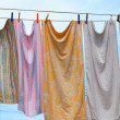 Clothes hanging — Stock Photo
