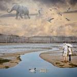 Flying Elephant — Stock Photo #13316649