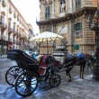 Buggy in the Quattro Canti, Palermo — Stock Photo