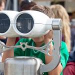 Tourist binoculars — Stock Photo