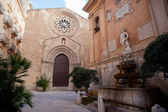 Sant'Agostino church and saturno fountain, Trapani — Stock Photo
