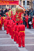 Chinese New Year parade in Milan — Stock Photo