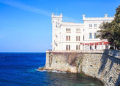 Miramare castle in Trieste — Stock Photo