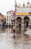 High water in Venice — Stock Photo