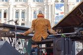 Omar Sosa playing piano — Stockfoto