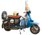 Vintage italian scooters Vespa — Stock Photo