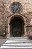 Invoeren van gotische kathedraal van bolzano — Stockfoto