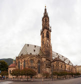 The gothic Cathedral of Bolzano in the early morning light. — Stock Photo