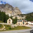 Piccolo Lagazuoi from Passo Falzarego — Stock Photo