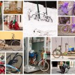 Bicycles collage — Stock Photo