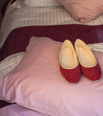 Red slippers — Stock Photo