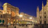 Piazza Duomo, Milan — Stock Photo