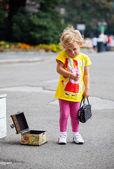 Nieśmiały dziecka — Zdjęcie stockowe