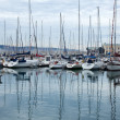 Lots of boats in Gijon port, — Stock Photo #7969373