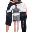 Back view of business team work. — Stock Photo