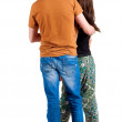 Back view of young couple — Stock Photo #12658048