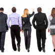 Back view of walking business team — Stock Photo #12726431