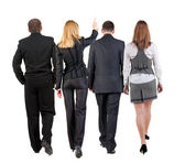 Back view of walking business team — Foto de Stock