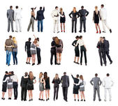"Collection "" Back view of business team "" — Foto Stock"
