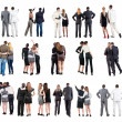 "Collection "" Back view of business team "" — Stok fotoğraf"