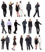 "Collection "" Back view of walking business "" — 图库照片"