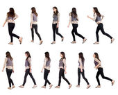 """Collection """" back view of running woman """". — Stock Photo"""