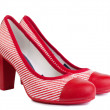 Fashionable women's   high heel shoes.  — Stock Photo