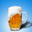 Glass of light beer foam — Stock Photo #13755927
