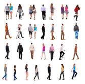 Kolekce zpět pohled na chůzi — Stock fotografie