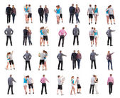 Collection back view of walking . — Stock Photo