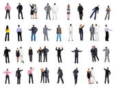 Collection Back view of business — Stock Photo