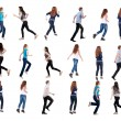 """Collection """" back view of running """". — Stock Photo"""